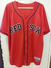 Boston Red Sox Authentic Majestic Alternate Red Jersey Men Size 54 Number 13 New