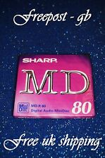 A SHARP RECORDABLE DIGITAL AUDIO MINIDISC - 80 MINUTES - BRAND NEW BOXED  MD-R80