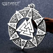 Norse Valknut Rune Original Amulet stainles steel Norse Vikings Pendant Necklace