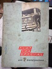FIAT 124 Special USO Y MANTENIMIENTO coche máquina folleto 6° ed. 1970