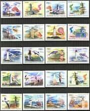 {K041} Korea 2009 Lighthouses Shells Birds Ships set of 20 High Value MNH**