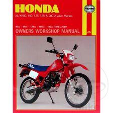 MANUALE DI RIPARAZIONE IN INGLESE PER HONDA XL 200 R 1983-1984