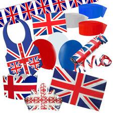 UNION JACK STREET PARTY DECORATION PACK - Patriotic British Theme Party Gear