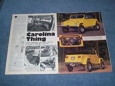 "1973 Type 181 Volkswagen Thing Article """"Carolina Thing"""