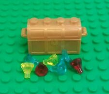 *NEW* Lego Gold Treasure Chest Red Blue Yellow Gems Jewels Pirate Figures x 1