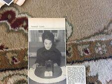 B1-4 ephemera 1961 picture sandra gillett thanet restaurant club