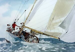 693 Mainsails - LARGE Sailing Yachting Seascape Ken Hayes