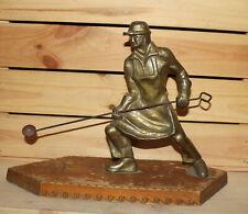 Vintage hand made metal figurine man smelter