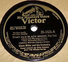 Victor 20-1523 Glenn Miller That Old Black Magic / A Pink Cocktail 78 RPM E E