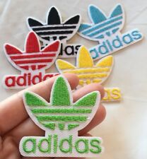 "Green Adidas Logo Embroidered Patch Iron On 2"" Traditional Adidas Symbol"