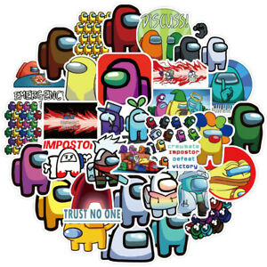 50pcs/pack Among Us Graffiti Stickers For Laptop Motorcycle Skateboard Computers