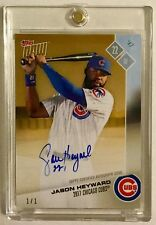 2017 TOPPS NOW JASON HEYWARD AUTOGRAPH 1/1 CHICAGO CUBS ROAD TO OPENING DAY!