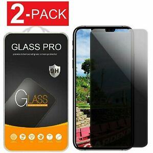 2X Protector de pantalla de vidrio templado privacidad para iPhone 11/12 Pro Max