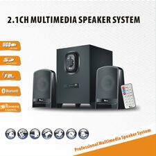 Multimedia Speaker System Subwoofer Bluetooth/USB/FM Radio with Remote Control