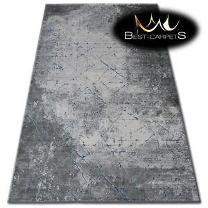 Very Soft Rug 'YAZZ' 100% Acrylic High Quality Unique Design Concrete blue grey
