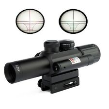 Tactical 4X25 Rifle Scope Illuminated Red/Green Mil-Dot Sight Scope 11mm & 20mm