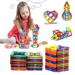 100stk Blocks Magnetic Building Kinder Spielzeug Magnetische Bausteine Blöcke DE