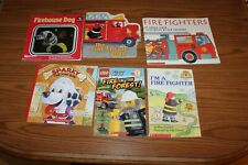 6 Fire Truck Firefighter Dog Sparky Engine Picture Books Reader Lot