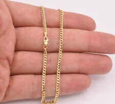 2.5mm Miami Curb Cuban Chain Ankle Anklet Real 10K ALL Yellow Gold 10""