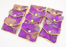 10PCS Purple Flower Baldachin Cloth Gift Jewelry Bags Pouches 65mm*80mm