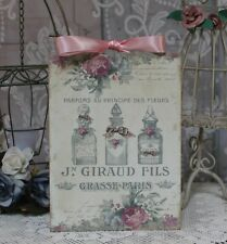 """Parfums des Fleurs"" Shabby Chic French ~ Country Cottage style Wall Decor Sign"