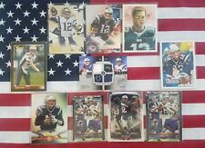 10 card lot of Tom Brady cards w/2007 Ultimate dual jersey #67/75 Peyton Manning