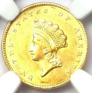 1855 Type 2 Indian Gold Dollar (G$1 Coin) - NGC Uncirculated Details (UNC MS)!