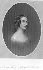 Actress Poet FASHION PLAY ANNA CORA MOWATT RITCHIE ~ 1877 Art Print Engraving