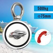 Neodym Bergemagnet Magnetangeln Angel Magnete Topfmagnet Öse 75mm 500 KG NEU*