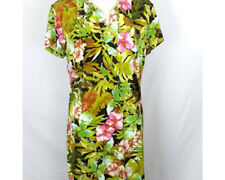 Mile Gabrielle Womens Dress Size Large Casual Maxi Floral Short Sleeve