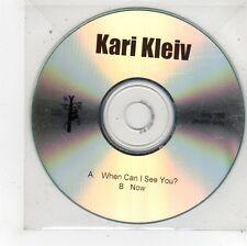 (FU91) Kari Kleiv, When Can I See You? / Now - DJ CD