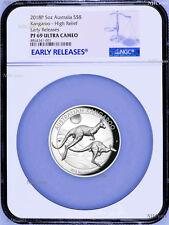 500 Mintage 2018 P Australia HIGH RELIEF 5oz Silver Kangaroo $8 Coin NGC PF69 ER