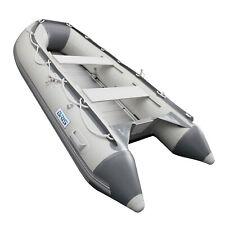 BRIS 9.8 ft Inflatable Boat Dinghy Pontoon Boat Tender Fishing Raft Gray