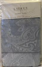 RALPH LAUREN Suite Paisley Pale Blue European Pillow Sham 100% Cotton NEW $142