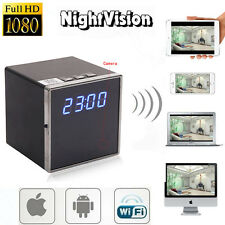 Mini 1080P WIFI HD Alarm Camera Clock Night Vision DVR Motion Digital Nanny Cam