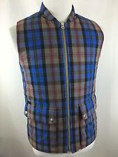Paul Smith Jeans Primalopt Men's L (M) Plaid Full Zip Vest Jacket Lined