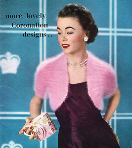 Ladies Retro Bolero  knitting pattern. Vintage Laminated copy.