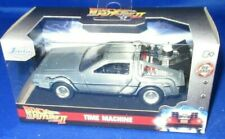 METALS DIE CAST HOLLYWOOD RIDES BACK TO THE FUTURE 2 TIME MACHINE 1:34, NEW