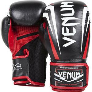 Venum Boxhandschuhe Sharp Schwarz 10 oz Nappaleder MMA Boxen Muay Thai Abverkauf