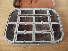 Vintage Richard Wheatley / Fosters 12 Compartment Fly Box with Pig Skin Flap