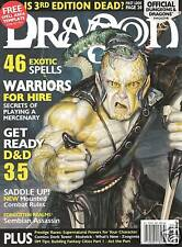 D&D d20 3rd Edition Dungeons & Dragon Magazine #304 Mercenaries MINT SW!