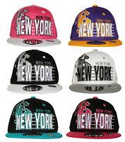 B M - YOUTH - KIDS - NY New York Stripe SNAPBACK Flat Peak Cap Hat Snap Back