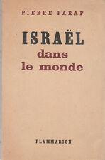 P. Paraf - ISRAËL DANS LE MONDE - 1947 - numéroté