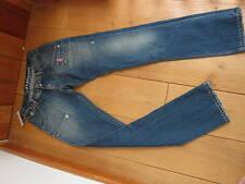 RINGSPUN LA PLACITA BLUE STONEWASHED STRAIGHT LEG JEANS 27 WAIST UK 8 XS BNWT