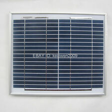 18V 10W solar panel charge 12V DC & RV battery solar panel power system best