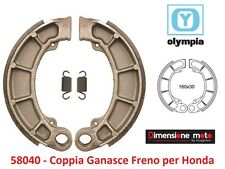 "58040 - Coppia Ganasce Freno ""OLYMPIA"" per HONDA Foresight 250 dal 1997 al 1999"