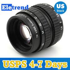 US 50mm f1.4 CCTV Cine Lens For Sony NEX M4/3 MTF Canon EOS M Fujifilm X Nikon 1