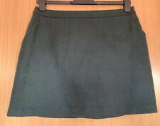Papaya Ladies Skirt 14 Dark Green Wool Blend Winter Smart Casual New Tags Pocket