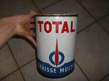 Ancien Bidon Pot Graisse Total Multi Ancienne Automobile Garage huile