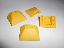 Lego (4861) 4 Schrägsteine 3x4x1, in gelb aus 7732, 10159, 6180, 7242